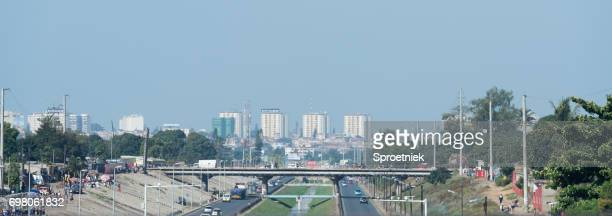 highways leading into maputo, mozambique - maputo city stock pictures, royalty-free photos & images