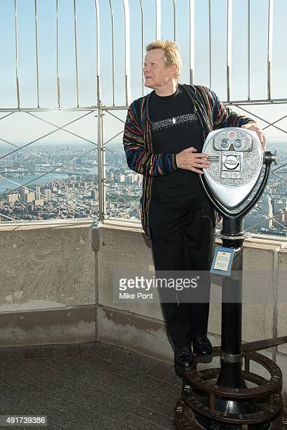 Highwire artist Philippe Petit visits the Empire State Building on October 7 2015 in New York City