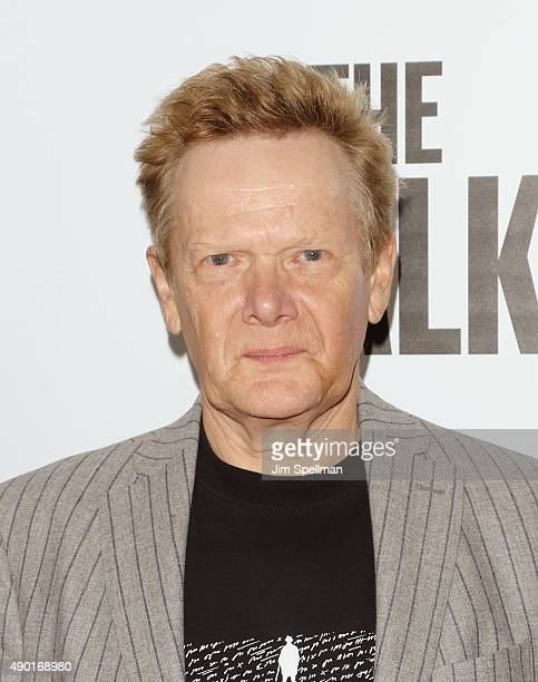 Highwire Philippe Petit artists attends the 53rd New York Film Festival opening night gala presentation and The Walk world premiere at Alice Tully...