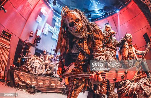 Hiisi of Lordi performs on stage at Sala Shoko on February 29 2020 in Madrid Spain