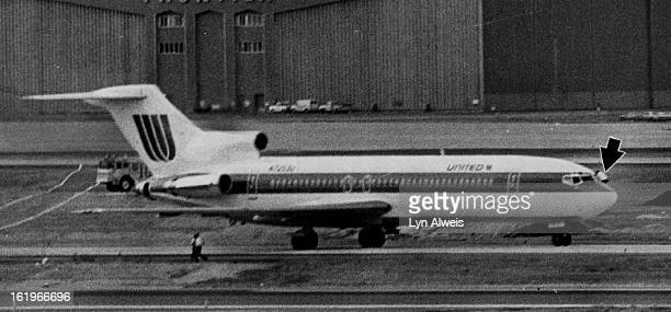MAR 13 1978 MAR 14 1978 Hijackings Denver A united Airlines Crewman Hangs From A Cockpit Window Above As Two colleagues Flee From Hijacked Plane All...