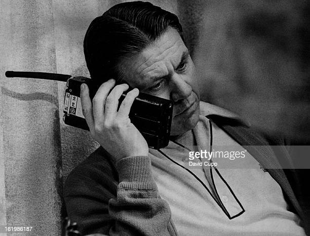 APR 1976 APR 19 1976 Hijackings Denver Denver Police Chief Art Dil monitors action during negotiations with the Nebraska man who was holding others...