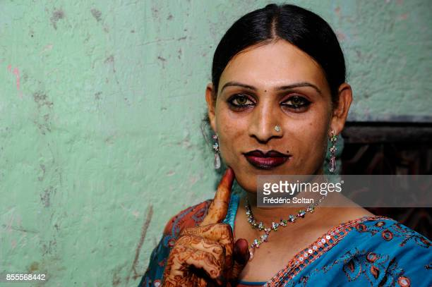 Hijra in Andheri Suburb in Mumbai The hijras refer to themselves as females and dress as women on April 14 2010 in Mumbai India