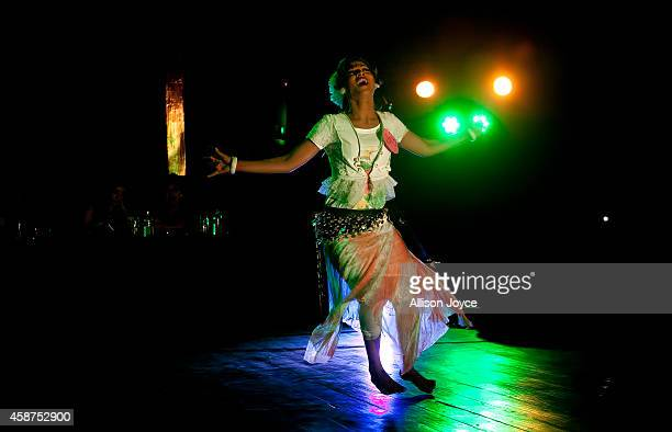Hijra or transgender performs at the Hijra talent show part of the first ever event called Hijra Pride 2014 on November 10 2014 in Dhaka Bangladesh...