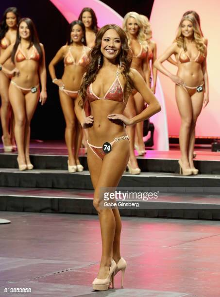 Hika Nakazawa of Tokyo Japan competes during the 21st annual Hooters International Swimsuit Pageant at The Pearl concert theater at Palms Casino...