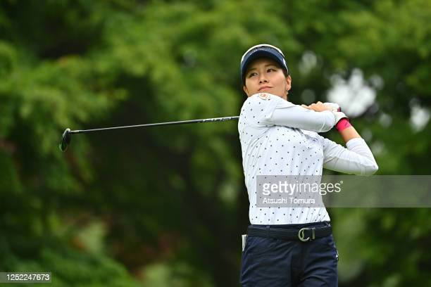 Hikari Fujita of Japan hits her tee shot on the 14th hole during the first round of the Earth Mondamin Cup at the Camellia Hills Country Club on June...