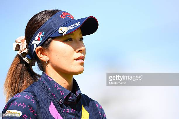 Hikari Fujita of Japan looks on during the third round of the Fujitsu Ladies 2015 at the Tokyu Seven Hundred Club on October 18 2015 in Chiba Japan