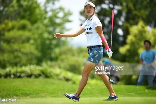 Hikari Fujita of Japan looks on during the third round of the Suntory Ladies Open at the Rokko Kokusai Golf Club on June 10 2017 in Kobe Japan