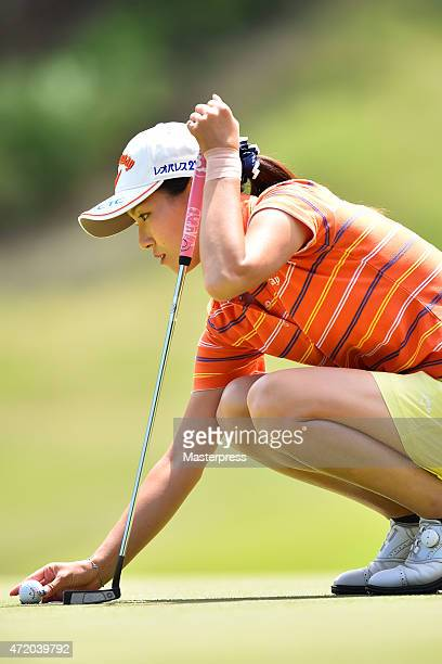 Hikari Fujita of Japan looks on the 15th green during the third round of the CyberAgent Ladies Golf Tournament at the Tsurumai Country Club West...