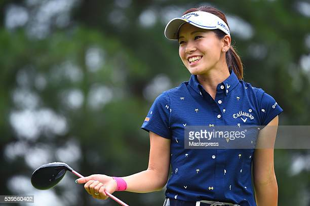 Hikari Fujita of Japan smiles during the final round of the Suntory Ladies Open at the Rokko Kokusai Golf Club on June 12 2016 in Kobe Japan