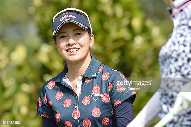 Hikari Fujita of Japan smiles during the first round of the Daikin Orchid Ladies Golf Tournament at the Ryukyu Golf Club on March 3 2016 in Nanjo...