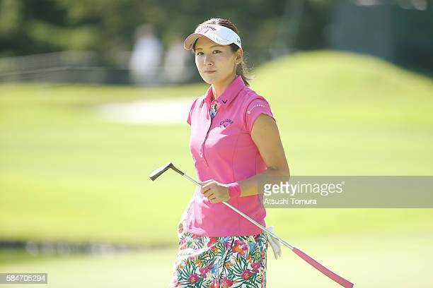 Hikari Fujita of Japan smiles during the second round of the Daito Kentaku Eheyanet Ladies 2016 at the Narusawa Golf Club on July 30 2016 in Narusawa...
