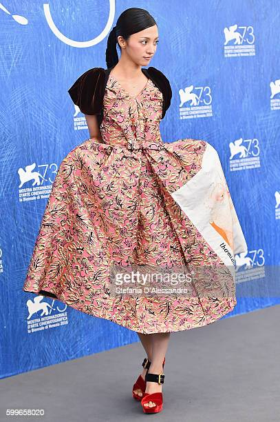 Hikari Mitsushima attends a photocall for 'Traces Of Sin' during the 73rd Venice Film Festival at on September 6 2016 in Venice Italy