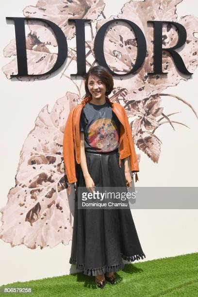 Hikari Mitsushima attends the Christian Dior Haute Couture Fall/Winter 20172018 show as part of Haute Couture Paris Fashion Week on July 3 2017 in...