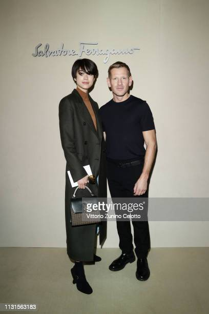 Hikari Mori and Paul Andrew attend the Salvatore Ferragamo show during Milan Fashion Week Autumn/Winter 2019/20 on February 23 2019 in Milan Italy