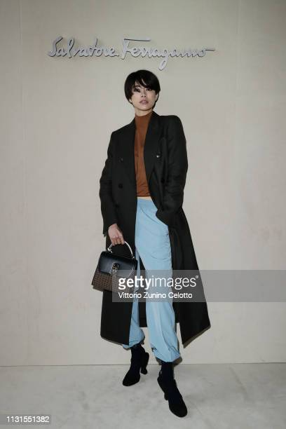 Hikari Mori attend the Salvatore Ferragamo show during Milan Fashion Week Autumn/Winter 2019/20 on February 23 2019 in Milan Italy