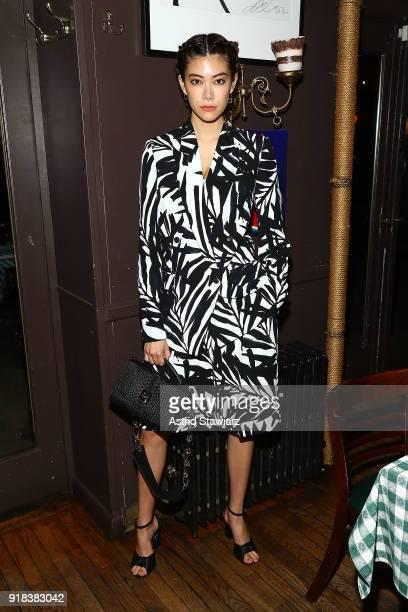 Hikari Mori attends Michael Kors celebration for David Downton Collaboration at JG Melon on February 14 2018 in New York City