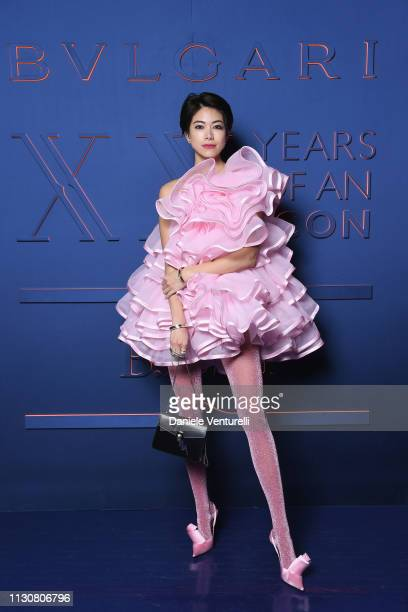 Hikari Mori attends the Bvlgari BZERO1 XX Anniversary Global Launch Event at Auditorium Parco Della Musica on February 19 2019 in Rome Italy