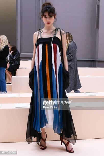 Hikari Mori attends the Chloe show as part of the Paris Fashion Week Womenswear Fall/Winter 2017/2018 on March 2 2017 in Paris France