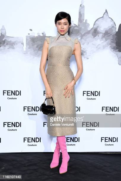 Hikari Mori attends the Cocktail at Fendi Couture Fall Winter 2019/2020 on July 04 2019 in Rome Italy