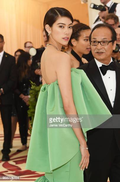 Hikari Mori attends the Heavenly Bodies Fashion The Catholic Imagination Costume Institute Gala at The Metropolitan Museum of Art on May 7 2018 in...