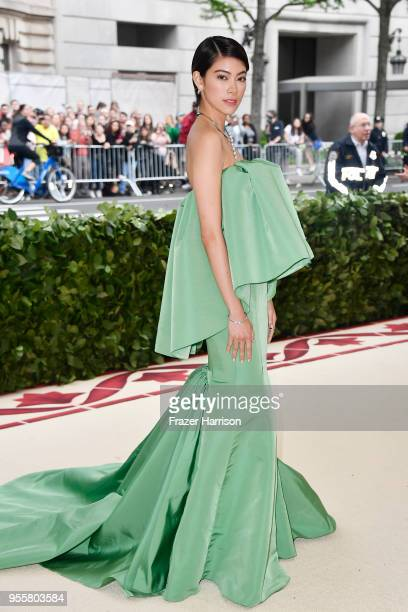 Hikari Mori attends the Heavenly Bodies: Fashion & The Catholic Imagination Costume Institute Gala at The Metropolitan Museum of Art on May 7, 2018...