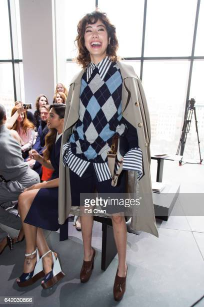 Hikari Mori attends the Michael Kors Collection Fall 2017 runway show at Spring Studios during New York Fashion Week on February 15 2017 in New York...