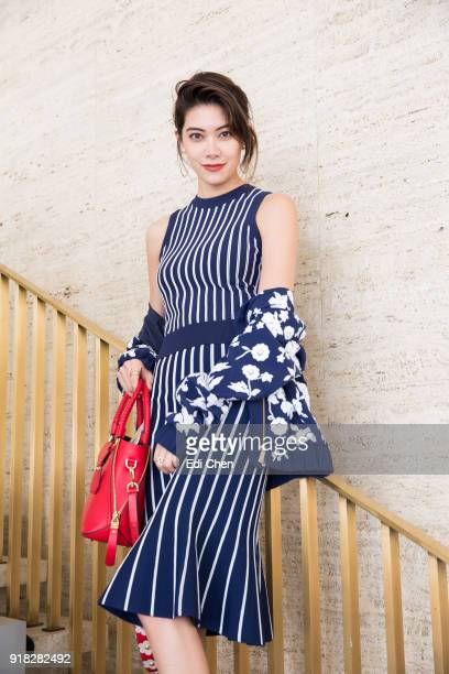 Hikari Mori attends the Michael Kors Collection Fall 2018 Runway Show at the Vivian Beaumont Theatre on February 14 2018 in New York City