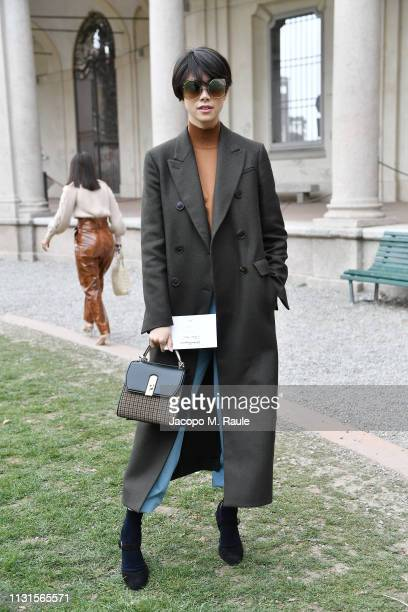 Hikari Mori attends the Salvatore Ferragamo show during Milan Fashion Week Autumn/Winter 2019/20 on February 23 2019 in Milan Italy