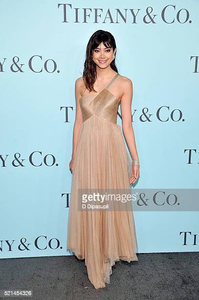 Hikari Mori attends the Tiffany Co Blue Book Gala at The Cunard Building on April 15 2016 in New York City