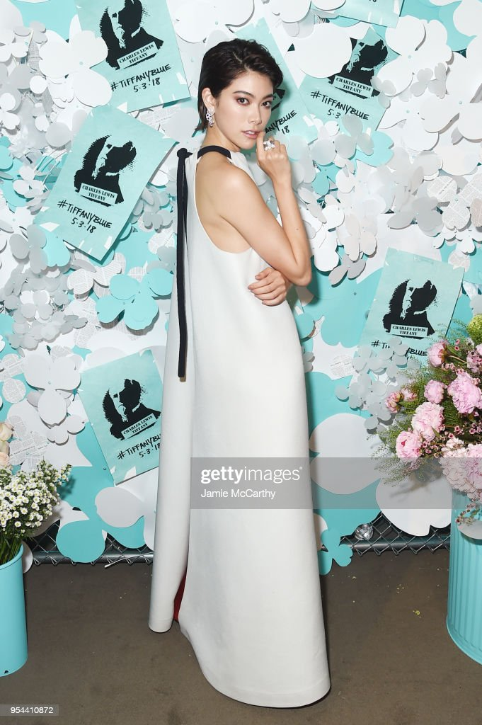 Hikari Mori attends the Tiffany & Co. Paper Flowers event and Believe In Dreams campaign launch on May 3, 2018 in New York City.