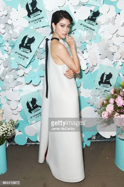 Hikari Mori attends the Tiffany Co Paper Flowers event and Believe In Dreams campaign launch on May 3 2018 in New York City