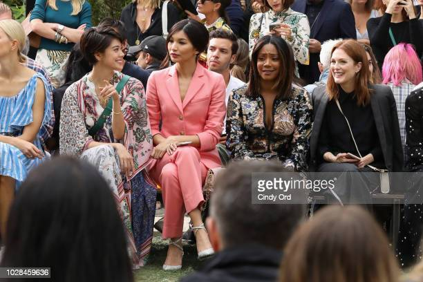 Hikari Mori Gemma Chan Tiffany Haddish and Julianne Moore attend the Tory Burch Spring Summer 2019 Fashion Show at Cooper Hewitt Smithsonian Design...