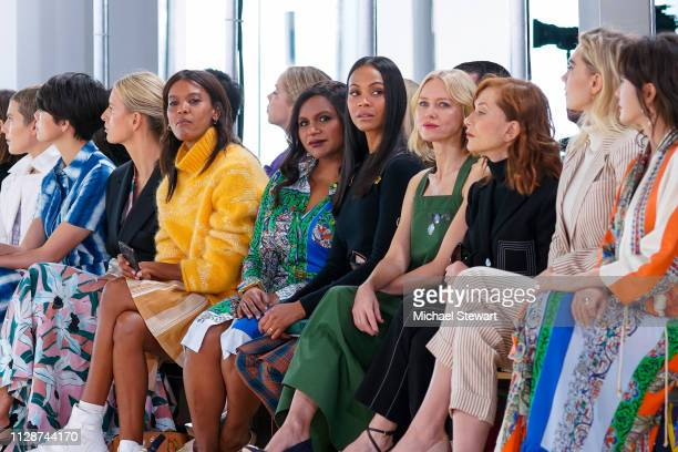 Hikari Mori Karolina Kurkova Liya Kebede Mindy Kaling Zoe Saldana Naomi Watts Isabelle Huppert Vanessa Kirby and Qin Lan attend the Tory Burch Fall...