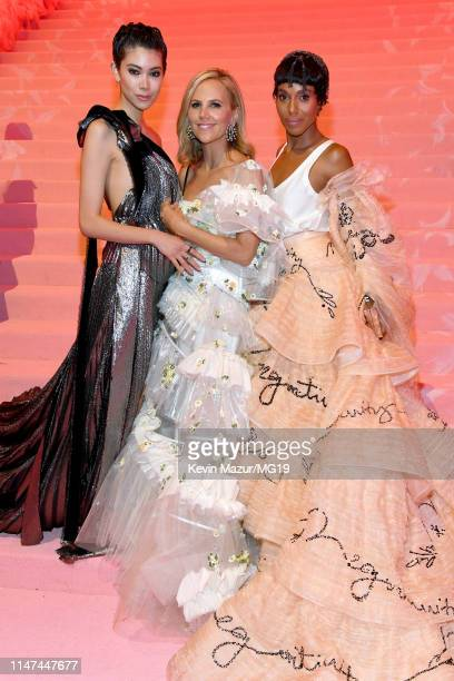 Hikari Mori Tory Burch and Kerry Washington attend The 2019 Met Gala Celebrating Camp Notes on Fashion at Metropolitan Museum of Art on May 06 2019...