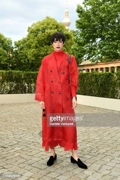 Hikari Mori wearing Max Mara attends the Max Mara Resort 2020 Fashion Show at Neues Museum on June 03 2019 in Berlin Germany