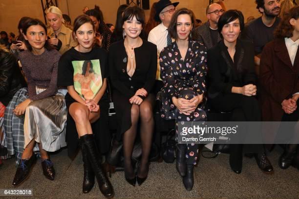 d51504a232 ... London Fashion Week. ED. Editorial use only. Hikari Yokoyama Alexa  Chung Daisy Lowe Rebecca Hall and Sharleen Spiteri attend the Christopher  Kane show