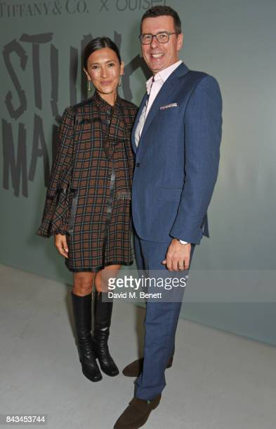 Hikari Yokoyama and Barratt West Managing Director at Tiffany Co attend The 2017 Tiffany Co and Outset Studiomakers Prize at The Vinyl Factory on...