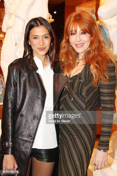 Hikari Yokoyama and Charlotte Tilbury attend Louis Vuittons Celebration of GingerNutz in Vogue's December Issue on November 21 2017 in London England