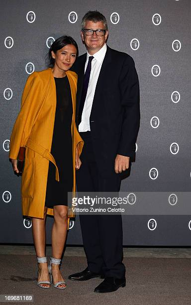 Hikari Yokoyama and Jay Jopling attend Fondazione Nicola Trussardi Cocktail Party on May 30 2013 in Venice Italy