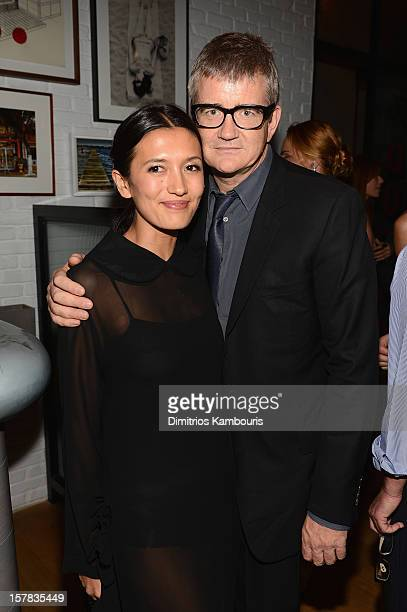 Hikari Yokoyama and Jay Jopling attend the Aby Rosen Samantha Boardman dinner at The Dutch on December 6 2012 in Miami Florida