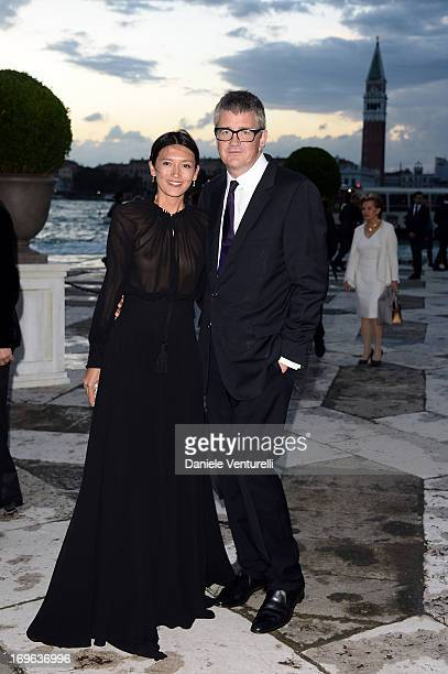 Hikari Yokoyama and Jay Jopling attend the Dinner At 'Fondazione Cini Isola Di San Giorgio' during the 2013 Venice Biennale on May 29 2013 in Venice...