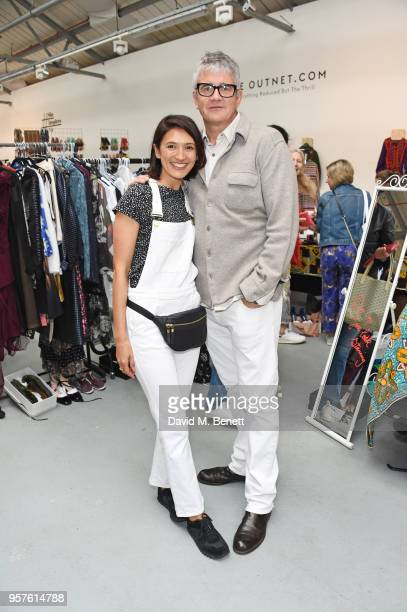 Hikari Yokoyama and Jay Jopling attend the #SheInspiresMe Fashion Car Boot Sale in aid of Women For Women International at Brewer Street Car Park on...