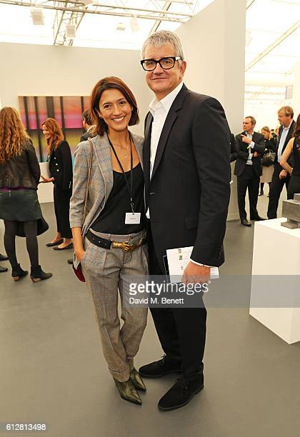 Hikari Yokoyama and Jay Jopling attend the VIP private view of the Frieze Art Fair 2016 in Regent's Park on October 5 2016 in London England
