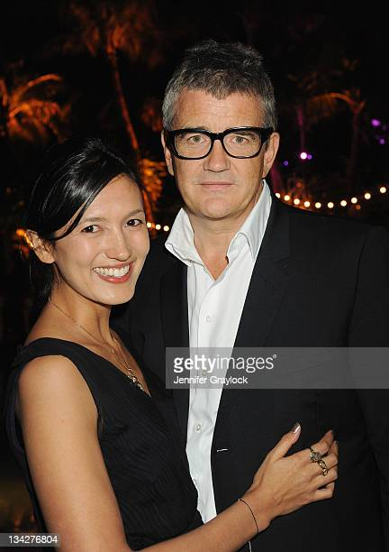 Hikari Yokoyama and Jay Jopling attend the White Cube Party at Soho Beach House Miami on November 29 2011 The event was cohosted by Jay Jopling and...