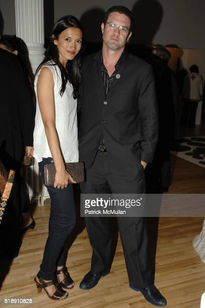 Hikari Yokoyama and Mike Latham attend WHITNEY MUSEUM of AMERICAN ART Library Fellows Celebration CoChairs Fiona Donovan Michele Gerber Klein at the...