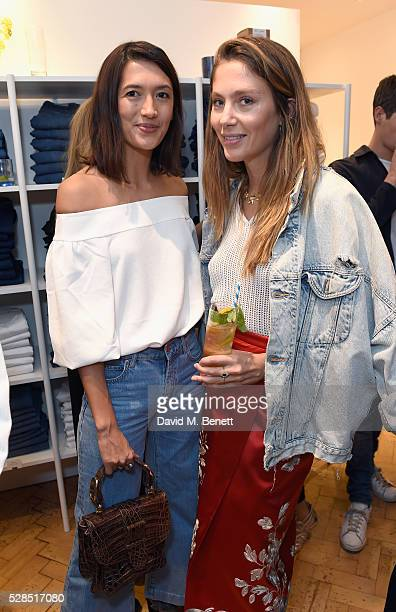 Hikari Yokoyama and Quentin Jones attend Mih Jeans' 10th Anniversary Celebration at their popup concept store on Upper James Street on May 5 2016 in...