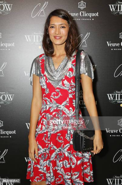 Hikari Yokoyama attends The Veuve Clicquot Widow Series By Carine Roitfeld And CR Studio on October 19 2017 in London England