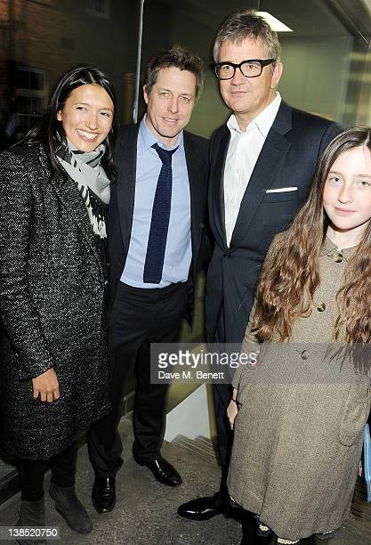 Hikari Yokoyama Hugh Grant Jay Jopling and Angelica Jopling attend the launch of Louise Fennell's debut novel 'Dead Rich' at White Cube on February 8...