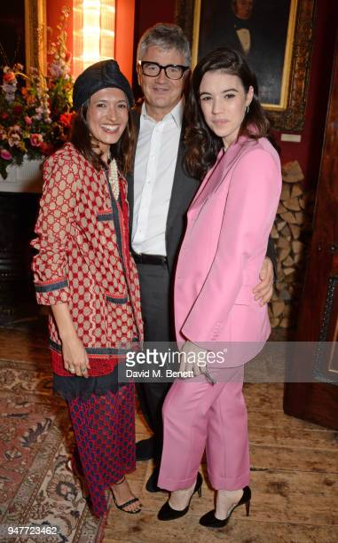 Hikari Yokoyama Jay Jopling and Gala Gordon attend a dinner hosted by Gucci to celebrate #GucciHallucination A Limited Line featuring artworks by...